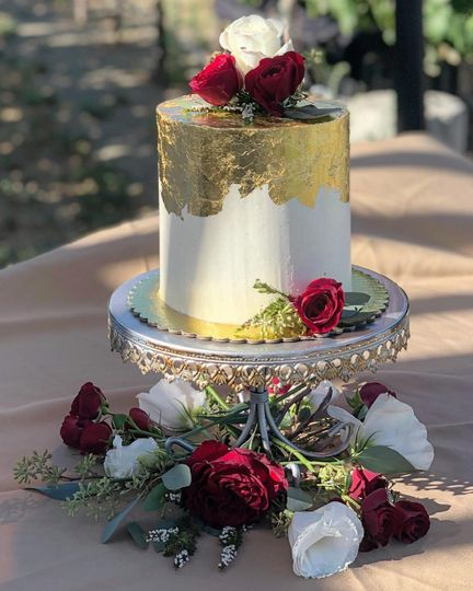 Gold Leaf and Roses