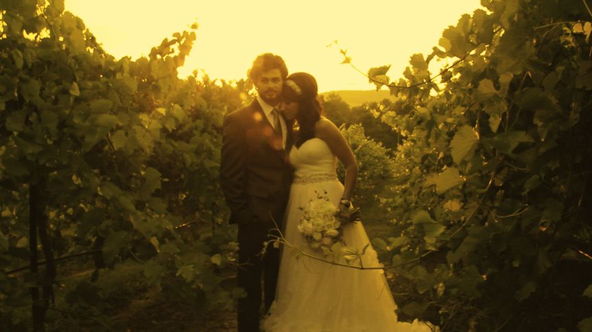 Image from Wedding Film shot at Chandler Hill Vineyards