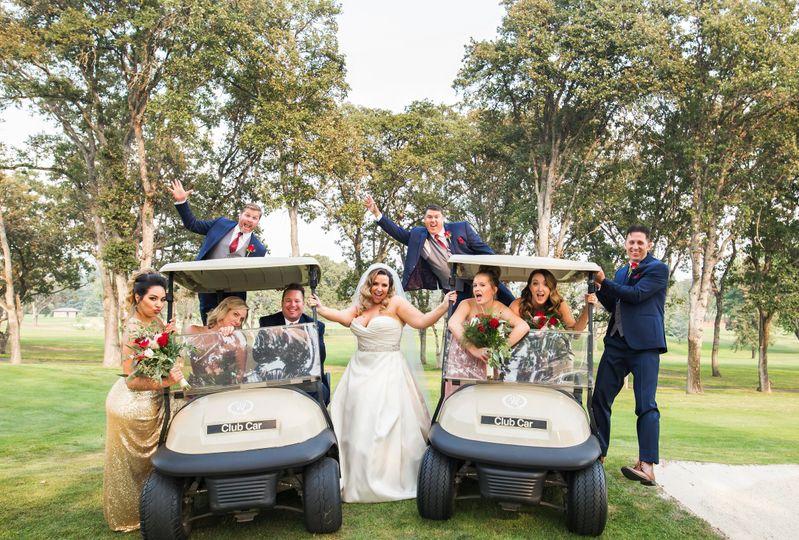 Inside the golf cart