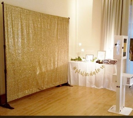Gold sequinned background
