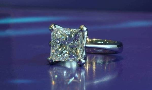 carat princess cut solitair