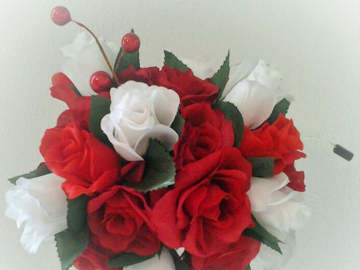 Tmx 1415887313677 Red White With Black Bouquet3 Tampa, FL wedding eventproduction
