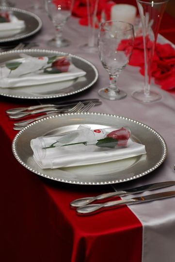 Bridal Party Table Setting