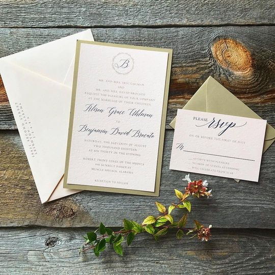 Blush and gold paper