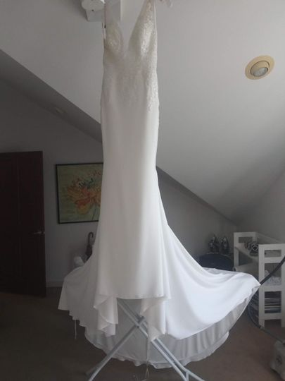 Gown with a train