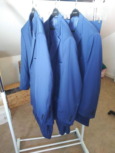 Jackets pressed for the wedding