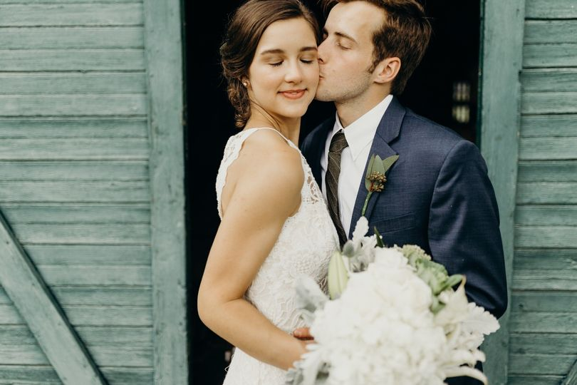 A kiss on the cheek (Robbie and MK)