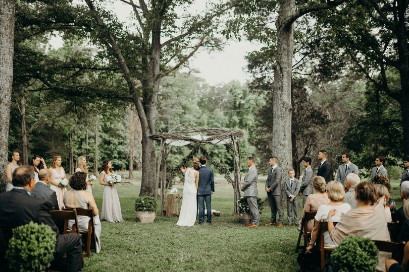 An intimate backyard wedding