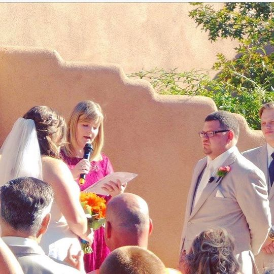 Officiant heading the ceremony
