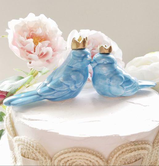 Blue bird cake topper