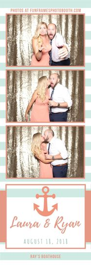 Laura & Ryan's Wedding at Ray's Boathouse | Striped Anchor Photo Strip
