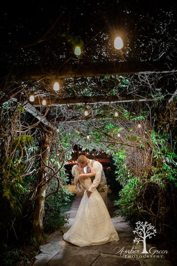 Kissing under the Arbor