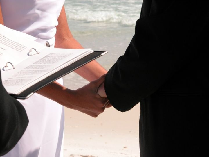 beach wedding ceremony officiant