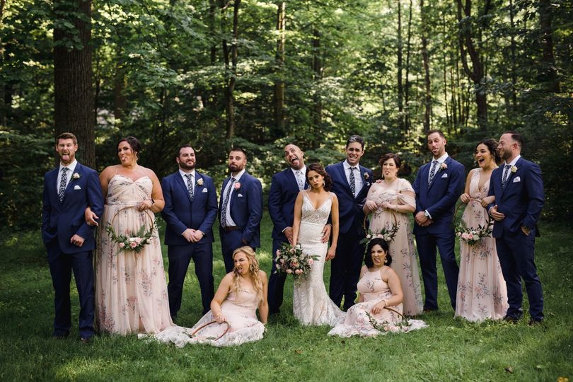 Beautiful wedding party portrait