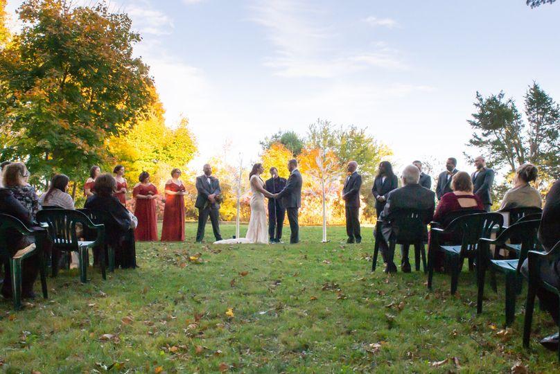 Outdoor ceremony set up