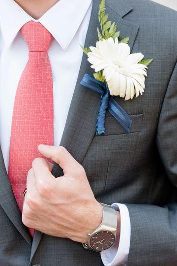 Detail shot of groom