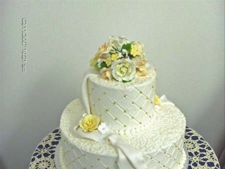 Tmx 1222128297902 QuiltedPearls Beltsville, District Of Columbia wedding cake