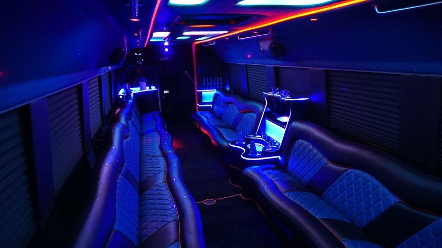 30 passanger limo bus interior