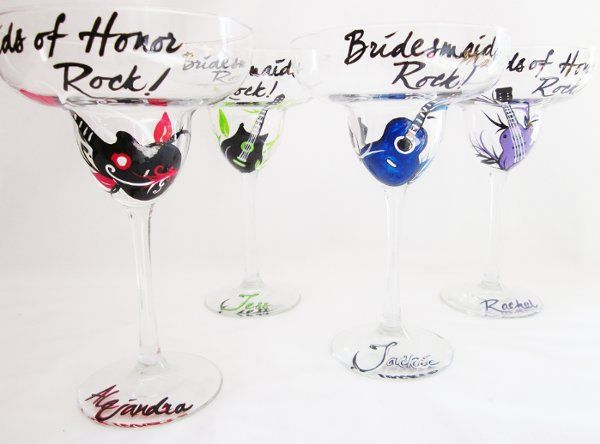 This beautiful hand painted glass will make the perfect gift for your wedding party. Each glass can...