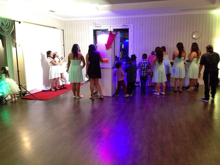 Quinceanera open air booth setup.