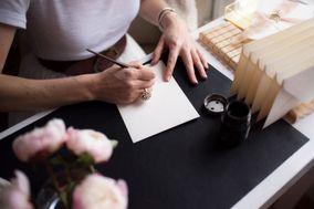 Peony and Plume Calligraphy