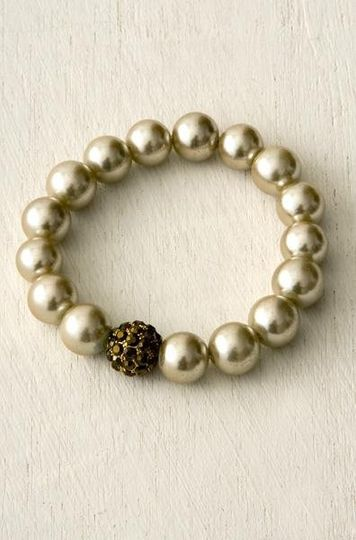 pearl pave bracelet in Champaign..beautiful accent to any dress.