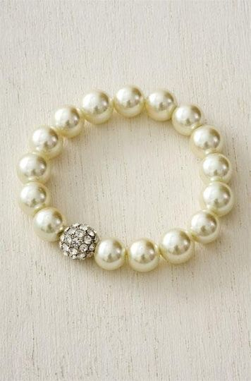 Pearl Pave Bracelet - A classic piece for any wedding.  great for layering with bangles too!