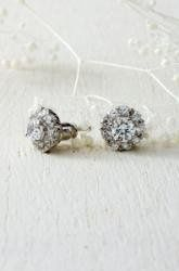Glint Flower Earring - $39.00 Affordable luxury!