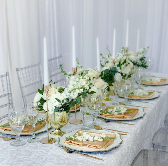 Intimate wedding set up