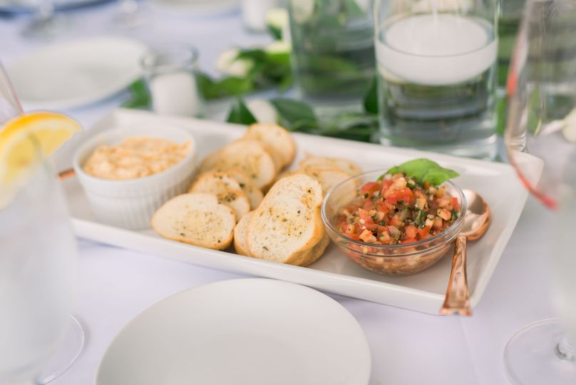 Table Bruschetta & Crab Dip
