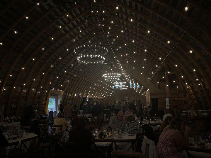 Lights dimmed during reception