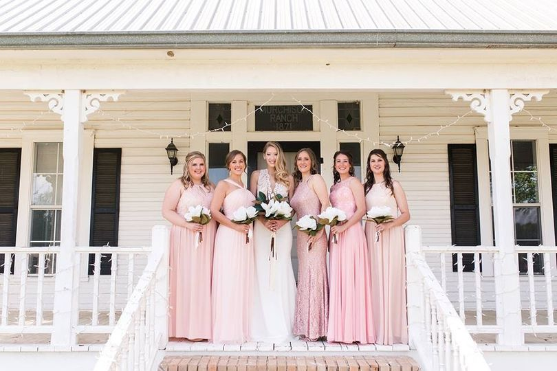 Wedding party on the porch
