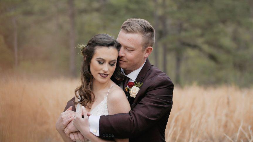 Bride and groom in the field - Kemari Lyn Films