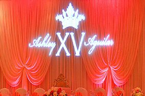Uplighting & Photo Booth, Gobo Monogram, Projector & Screen, DJs by ENDLESS ENTERTAINMENT