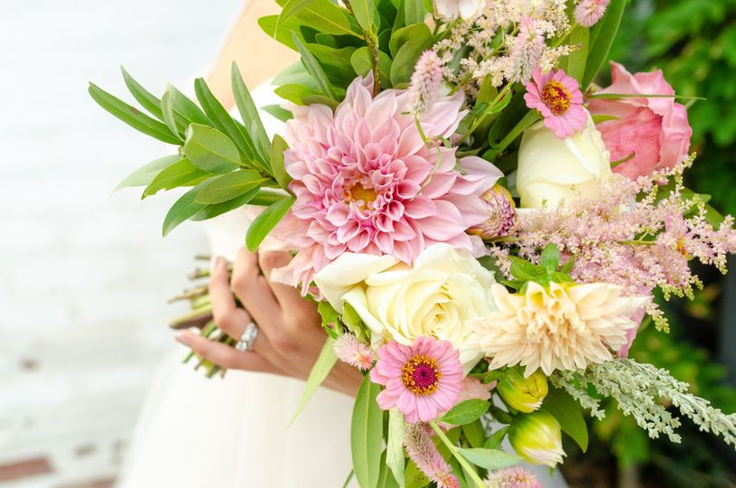 Late summer pink bouquet