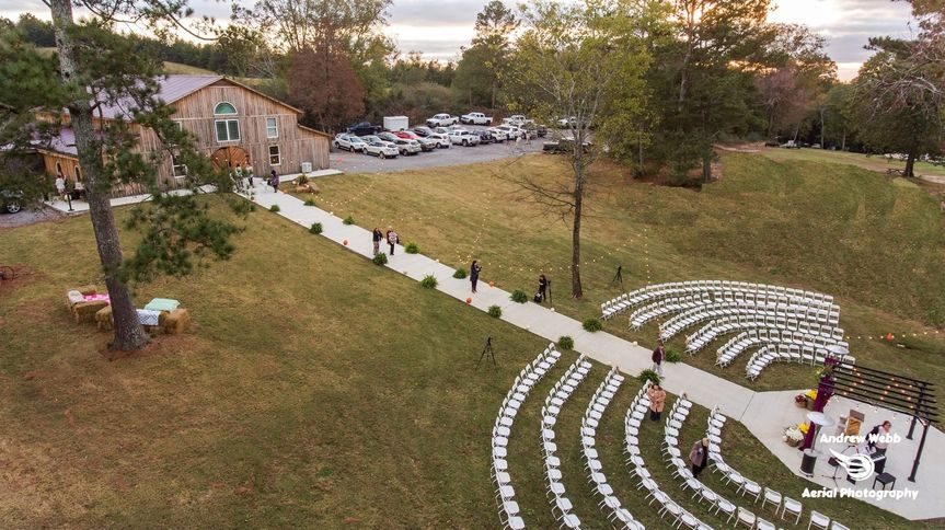 Aerial view of the event