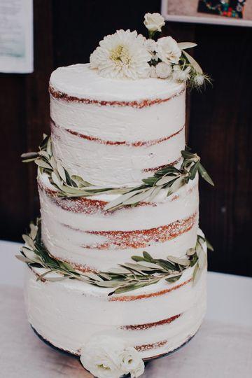Semi-naked cake by Jamie