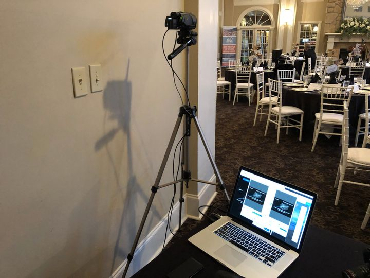 Filming a wedding reception