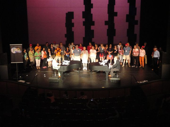 The finale of a big theater show we did in Ithaca, NY last year.