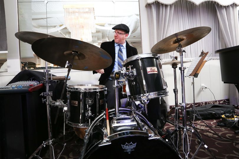 Dave, one of our drummers playing a NJ Wedding last January