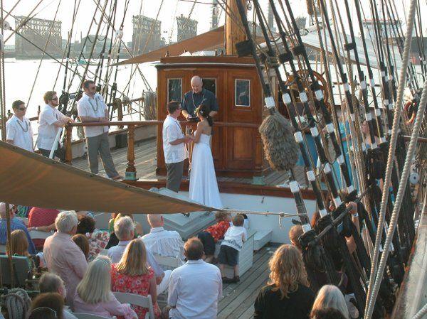 Wedding on board the Elissa