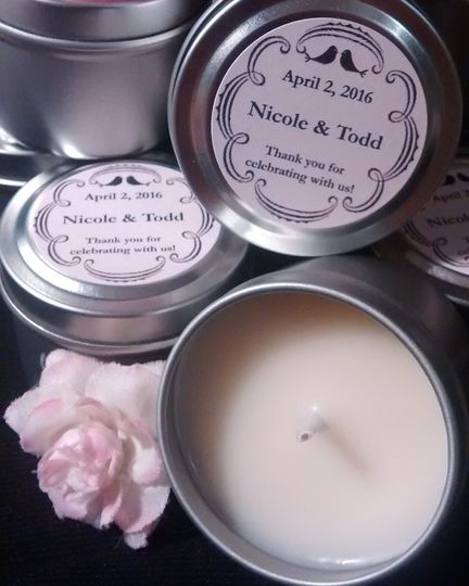 Personalized Favor Candle's