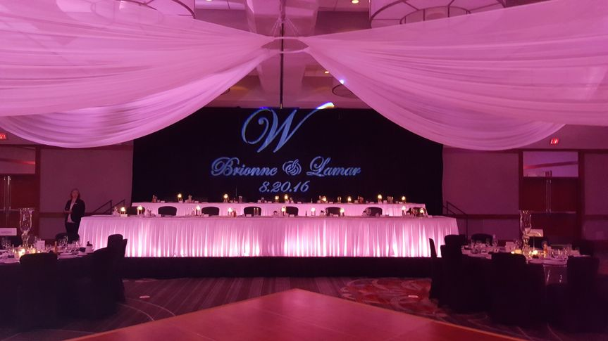 Monogram & uplighting