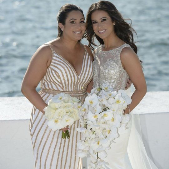 Bride with the maid of honor