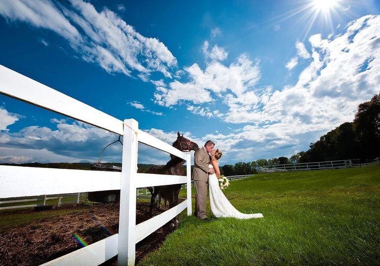 Ashton Farm: Bride & Horse