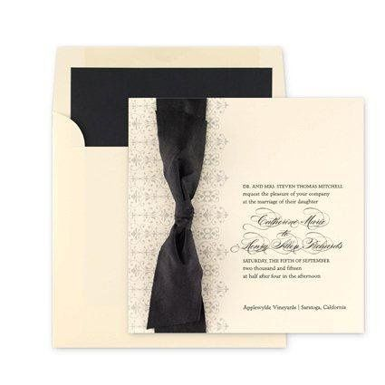 Black lining in envelope