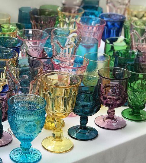 Mismatched goblets