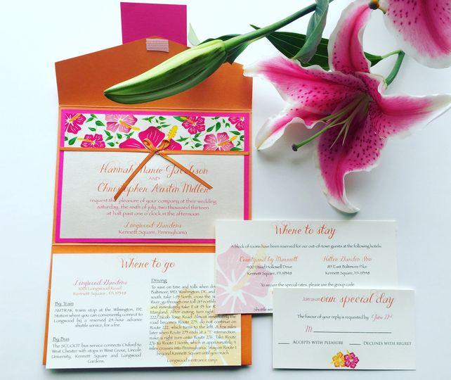 jsd floral wedding invitation