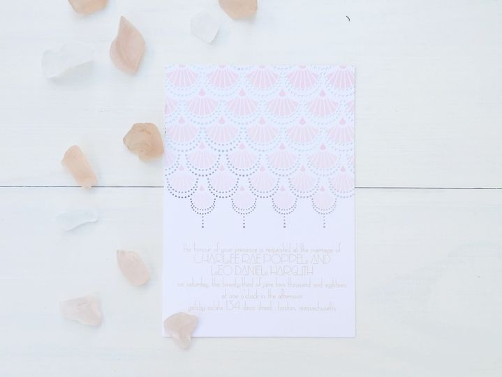 jsd foil pressed geometricwedding invitation