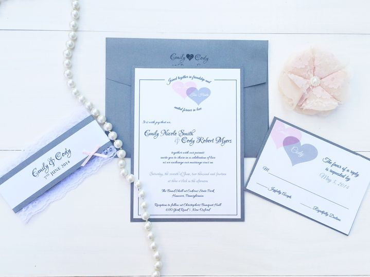 jsd gray and blush rustic wedding invitation